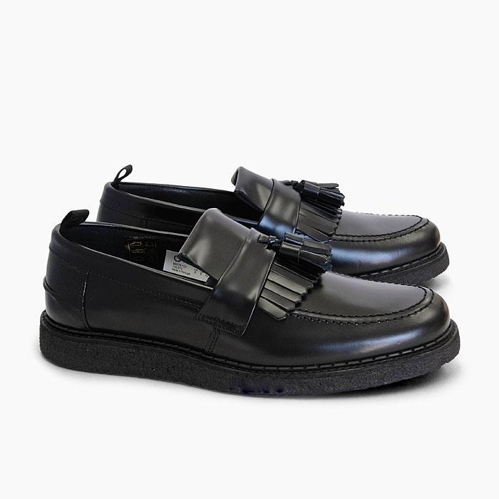 フレッドペリー ジョージコックス タッセル ローファー メンズ 本革 ブラック FRED PERRY GEORGE COX TASSEL LOAFER BLACK B9278 102 シューズ 紳士靴