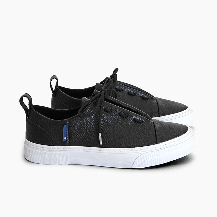 SLACK ENWRAP EL [BLACK/WHITE SL1777001] スラック ローカット レザー スニーカー 黒 ブラック 靴 メンズ レディース 革