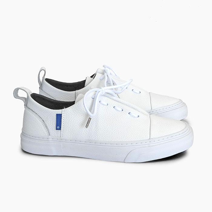 SLACK ENWRAP EL [WHITE/WHITE SL1777102] スラック ローカット レザー スニーカー 白 ホワイト 靴 メンズ レディース 革