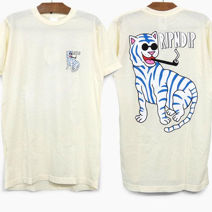 リップンディップ RIPNDIP リッピンディップ RIP N DIP Tシャツ 35%OFF 並行輸入品 COOL CAT RND4167 レディース 流行 ベージュ TEE 猫 スケボー 送料無料(一部地域を除く) スケーターファッション メンズ 半袖 ストリートブランド S