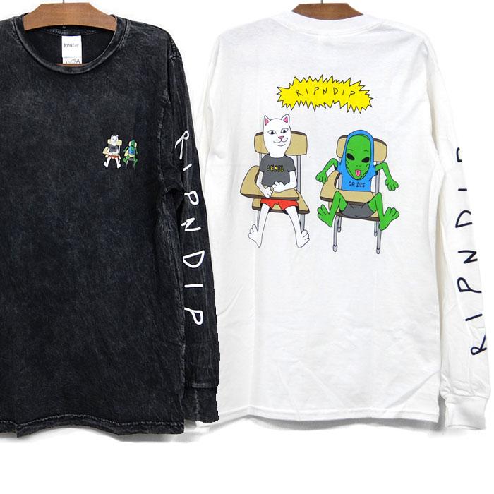 リップンディップ RIPNDIP ロンT 25%OFF 並行輸入品 18%OFF Tシャツ 長袖 BUTZ UP LONGSLEEVE TEE 黒 猫 スケートボード 全商品オープニング価格 MINERAL メンズ WHITE レディース WASH ストリート BLACK