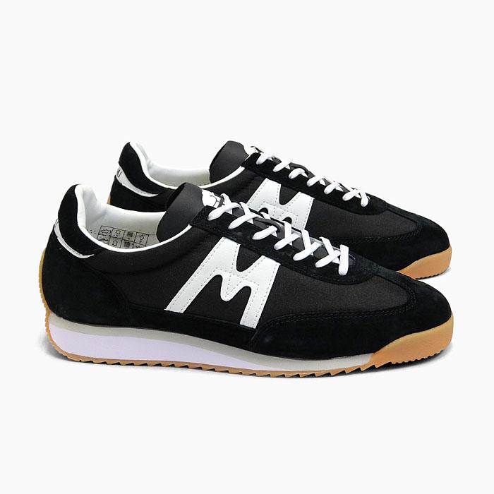 カルフ KARHU スニーカー レトロランニングシューズ 高価値 15%OFF MESTARI F805003 メスタリ レディース 黒 スウェード ガムソール ナイロン メンズ チャンピオンエア メーカー在庫限り品 靴