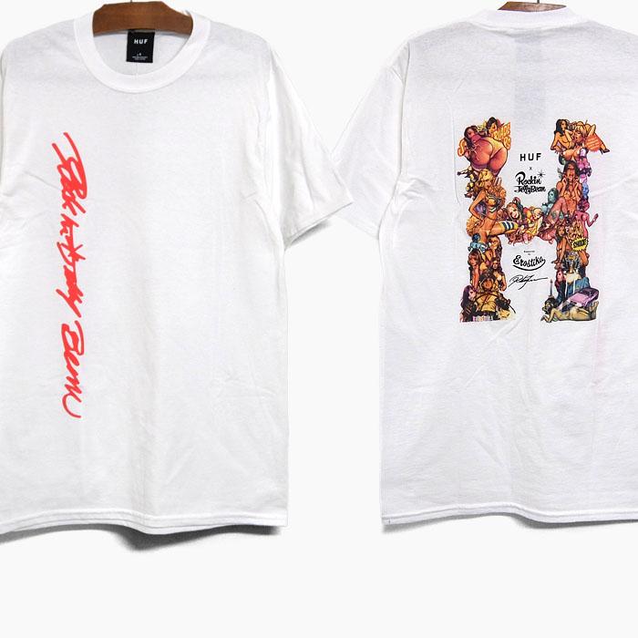 HUF ROCKIN JELLY BEAN ハフ 並行輸入品 RJB CLASSIC H S 開店祝い 記念日 メンズ コラボ 半袖 白 TEE TS01427 Tシャツ 2021夏 ロゴ