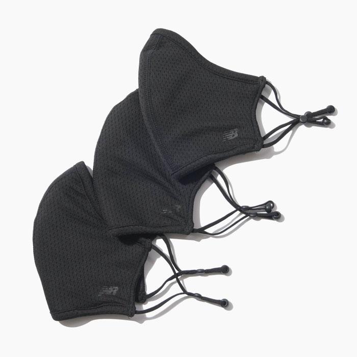 ニューバランスの繰り返し使用可能なパフォーマンスマスク 10%OFF 返品交換不可 NEW BALANCE EVERYDAY MASK 3PK LAO13098 ニューバランス 立体フィット ウォッシャブル マスク 3枚入り 返品不可 メッシュ 交換無料 フェイスマスク 黒 調整可能 速乾