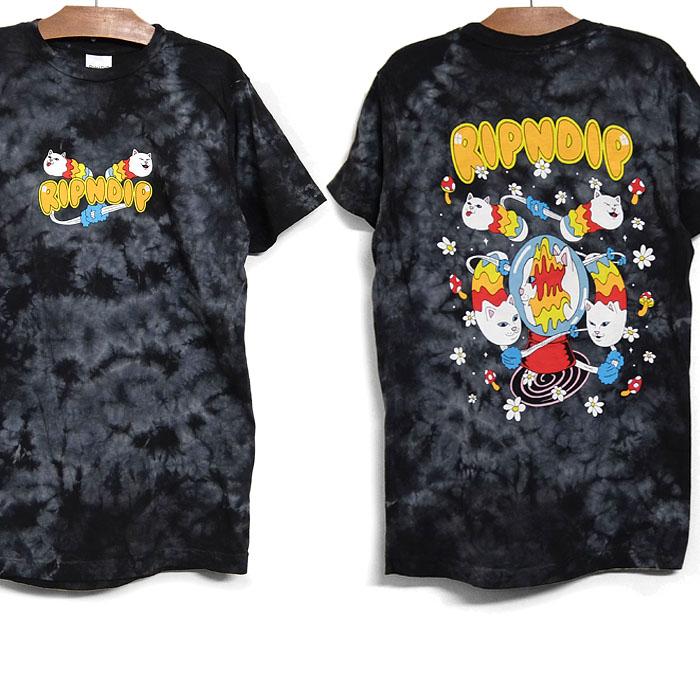リップンディップ RIPNDIP 半袖 Tシャツ 10%OFF おしゃれ 並行輸入品 SPACE GRAVY TEE メンズ ロゴ 2021春夏 本日限定 ティーシャツ 半袖Tシャツ キャラクター 黒 RND6075