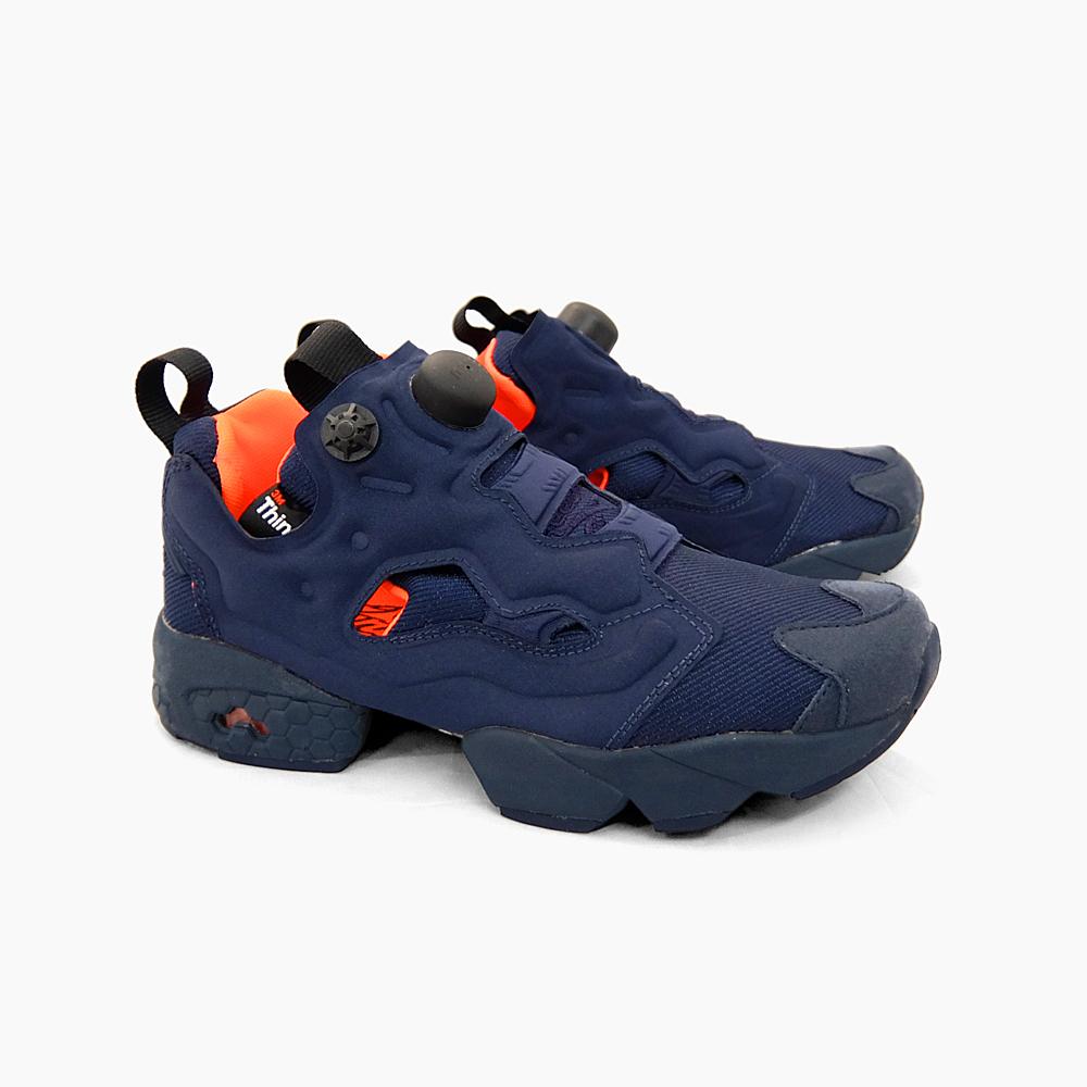 REEBOK INSTA PUMP FURY TECH  V63499 NAVY ORANGE  Reebok insta pump fury  tech Navy   Orange Navy blue   orange MEN s WOMEN s UNISEX a9fcaadc7a