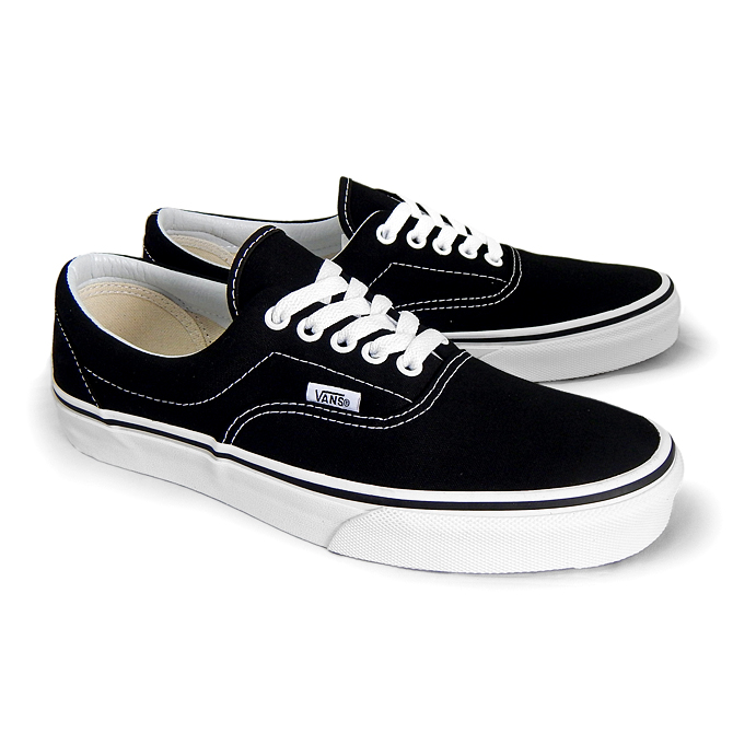 1af4dc530f VANS vans vans era men s ERA VN-0EWZBLK BLACK black black white white  canvas MEN s sneaker CLASSICS USA USA overseas limited edition skateboard  shoes ...