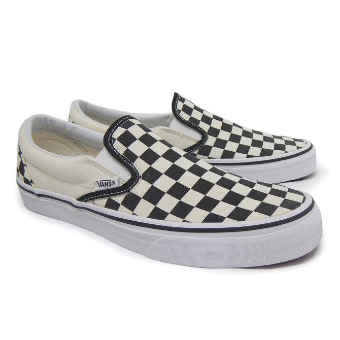 952022e511c843 Vans slip-ons men black and white white black checker check CLASSIC VANS  USA CLASSICS SLIP-ON VN-0EYEBWW BLACK AND WHITE CHECKER sneakers vans  sneakers ...