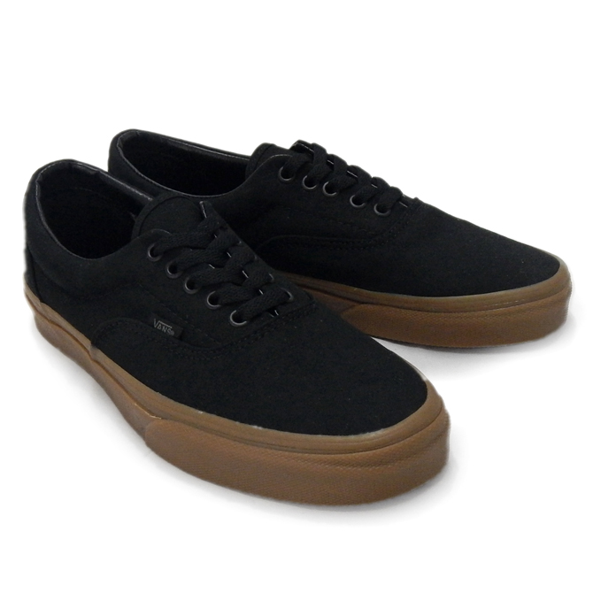 7876b19ed79c VANS vans vans era men s ERA VN-0 W3CDUM BLACK CLASSIC GUM Black Black gum  sole gum canvas MEN s sneaker CLASSICS USA USA overseas limited edition ...