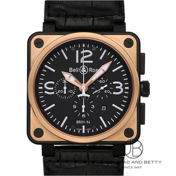 ベル&ロス BELL&ROSS BR01-94 クロノグラフ ピンクゴールド カーボン BR01-94PGC-AL 【新品】 時計 メンズ