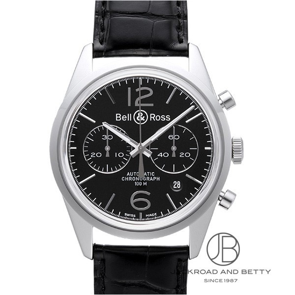 ベル&ロス BELL&ROSS BR126 ヴィンテージ オフィサー ブラック BR126 OFFICER BLACK 新品 時計 メンズ