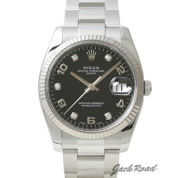 ロレックス ROLEX パーペチュアル デイト 5Pダイヤ 115234G 新品 時計 メンズ