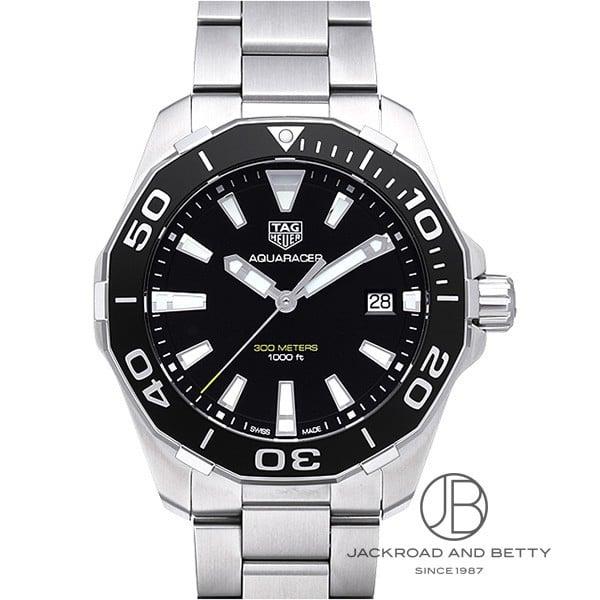メンズ 【SAランク】 SSブレス 【中古】 タグホイヤー 男性用腕時計 【美品】 WAY111A.BA0928 Aquaracer 300M Divers Watch アクアレーサー ダイバーズウォッチ 【TAG Heuer】 ブラック クォーツ