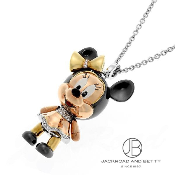 チョウ タイフック ChowTaiFook Disney&Chow Tai Fookコラボレーション ミニーマウスネックレス D:0.29ct/0.15ct 新品 ジュエリー ブランドジュエリー