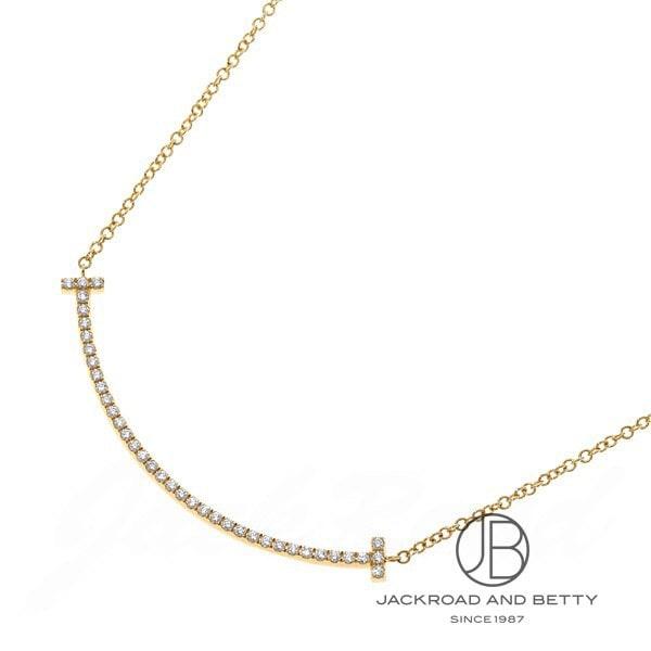 ティファニー TIFFANY&Co. T スマイル ペンダント(スモール)ダイヤモンド K18YG 34684456 新品 ジュエリー ブランドジュエリー