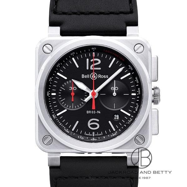 ベル&ロス BELL&ROSS BR03-94 ブラックスティール BR0394-BLC-ST/SCA 新品 時計 メンズ