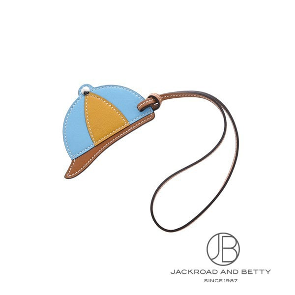 エルメス HERMES パドックチャーム ボンベ 帽子 セレスト ライトブルー H069715 新品 その他