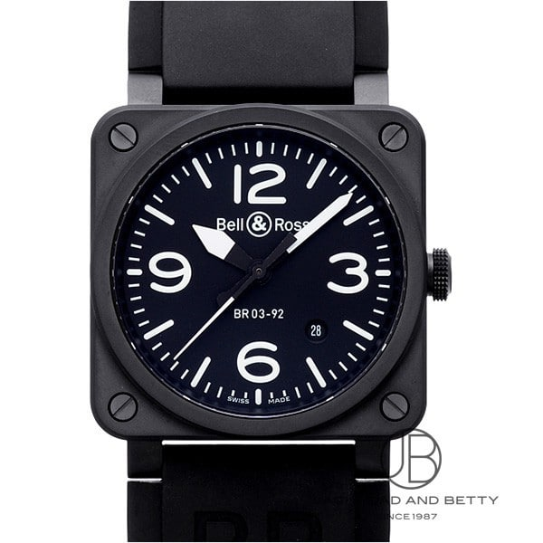 ベル&ロス BELL&ROSS BR03-92 ブラック マット BR03-92 BLACK MATTE 【新品】 時計 メンズ