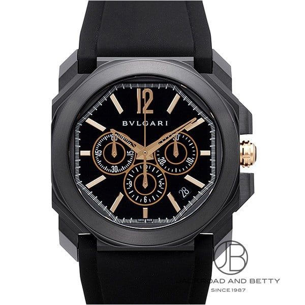 ブルガリ BVLGARI オクト ウルトラネロ クロノグラフ 102630 新品 時計 メンズ
