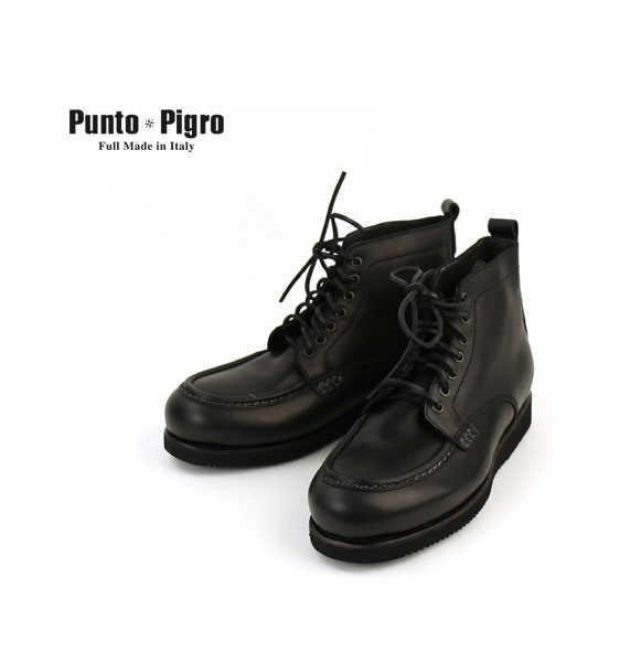 プントピグロ(PUNTO PIGRO)レザー モカシントゥ ワークブーツ・NPP1552-0341502【メンズ】【C-4】