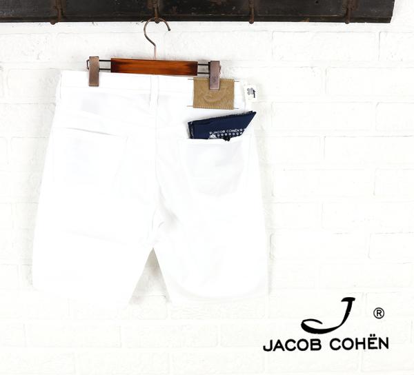 ヤコブコーエン(JACOB COHEN)コットン ポリウレタン ストレッチ ショートパンツ・226-72108-3451501【メンズ】