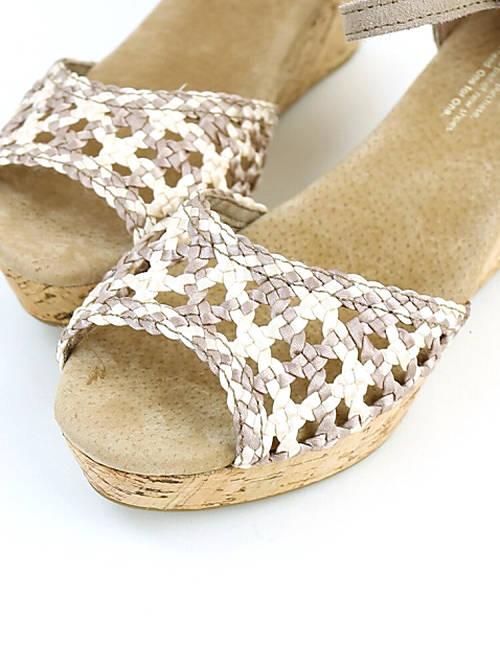 97eab7cc34a JACQUEMART  TOMS (TOMS) platform wedge sole ankle strap sandals ...