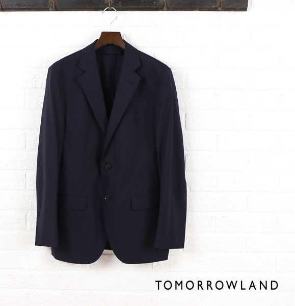 トゥモローランド(TOMORROWLAND)ウール シルク テーラード ジャケット・61-07-52-07101-0171501【メンズ】