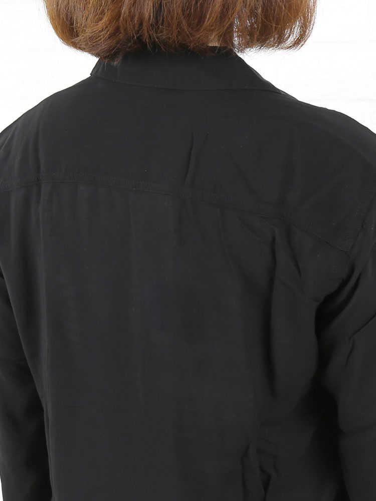 JAMES PERSE(ジェームスパース) レーヨン 長袖 フィッシュテール シャツ・WEB3077-0171501