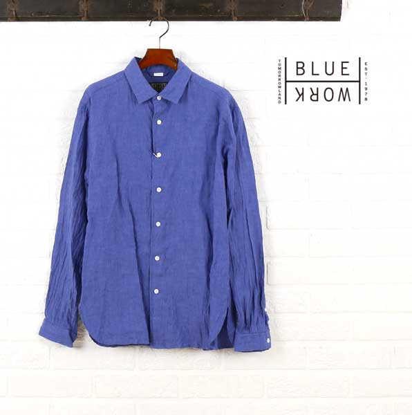 ブルーワーク(Blue Work)リネン 長袖 シャツ・54-01-62-01102-0171601【メンズ】