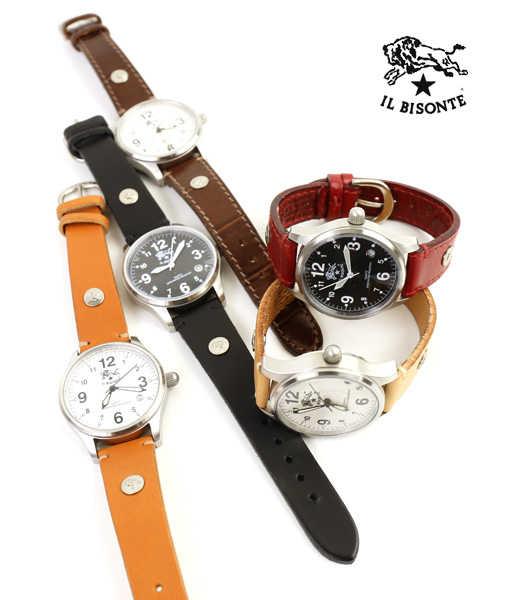 イルビゾンテ(IL BISONTE)レザー 型押しレザー カレンダー付き クォーツ式 腕時計 リストウォッチ(S)・5422310397-A-0061901【レディース】【1F】