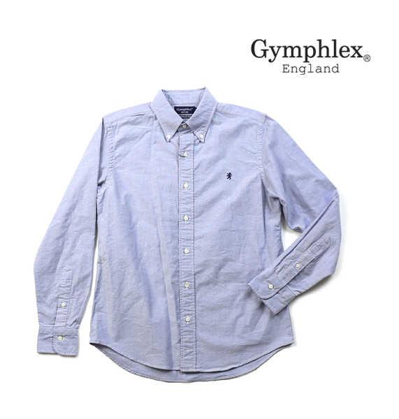 ジムフレックス(Gymphlex)コットン オックスフォード メンズ 長袖 ボタンダウンシャツ・J-0643YOX-0322001【メンズ】【JP】
