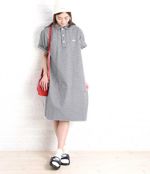 丹顿(DANTON)棉布牛津短袖衬衫连衣裙、JD-3610TRD-0321701