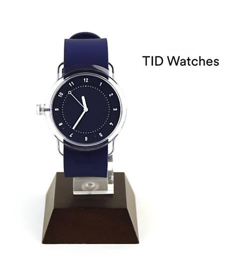 ティッドウォッチズ(TID Watches)腕時計 シリコンベルトセット ブルー/ブルー(38mm) 腕時計 No.3 Collection リストウォッチ・137701-3701702【メンズ】【レディース】【1F-W】