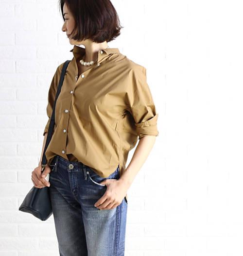 アッパーハイツ(upper hights)コットン混紡 長袖 シャツ THE SHIRT 01・173SS01-2941702【レディース】