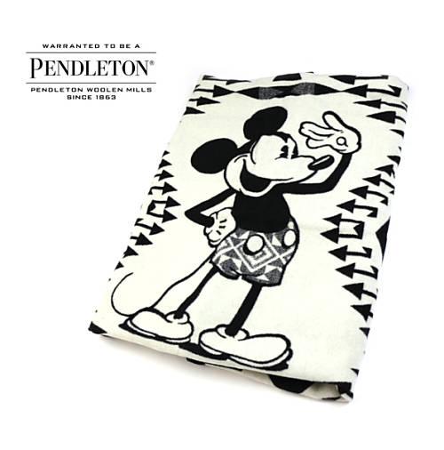 ペンドルトン(PENDLETON)ウールコットン ミッキーマウス 大判 ブランケット ミッキーサルトローブ・19378080-3661801【レディース】【JP】