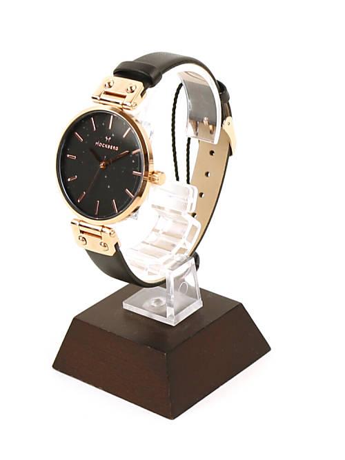 モックバーグ(MOCKBERG)レザーベルト ラウンド 腕時計 レディースウォッチ SIGRID BLACK 34mm・MO110-3171801【レディース】【1F-W】