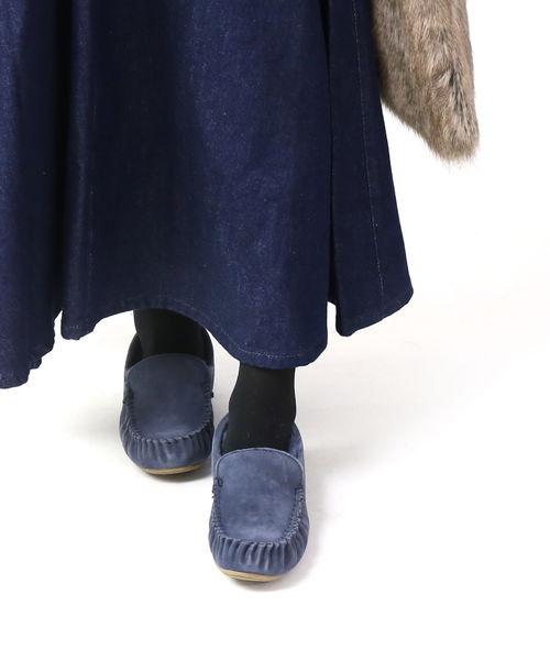 エミュ(EMU)シープスキン ムートン スエード モカシンシューズ ケアンズ CAIRNS・W11439-1541902【レディース】【■■】