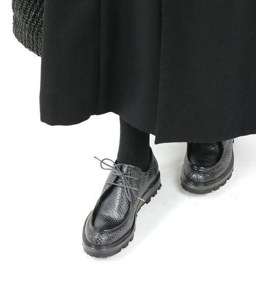 ヴェリテクール(Veritecoeur)by SHOTO ショト コラボシューズ カウハイド型押しレザー シューズ 靴 チロリアンシューズ・VC-2089-2421902【レディース】【■■】