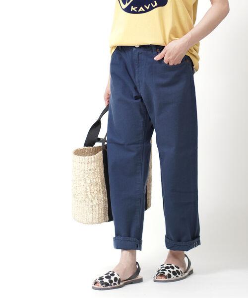 サキュウ(caqu)コットン ロールアップ カラー ボーイズパンツ FSカラーロールアップボーイズ FS Color Roll-up Boys・26104-2292001【レディース】【JP】