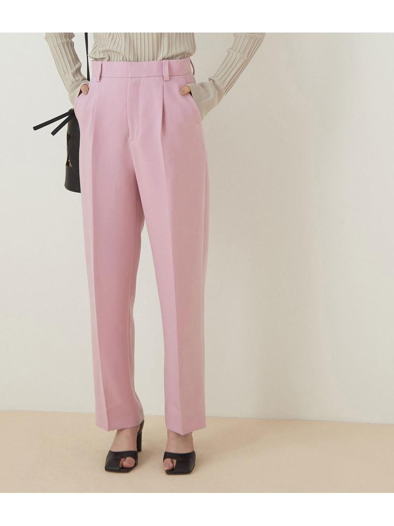ADAM ET ROPE' レディース パンツ ジーンズ アダムエロペ Rakuten Fashion イエロー ドレスパンツ 通販 期間限定の激安セール 先行予約 センタープレスカラーパンツ 送料無料 ホワイト スラックス ピンク