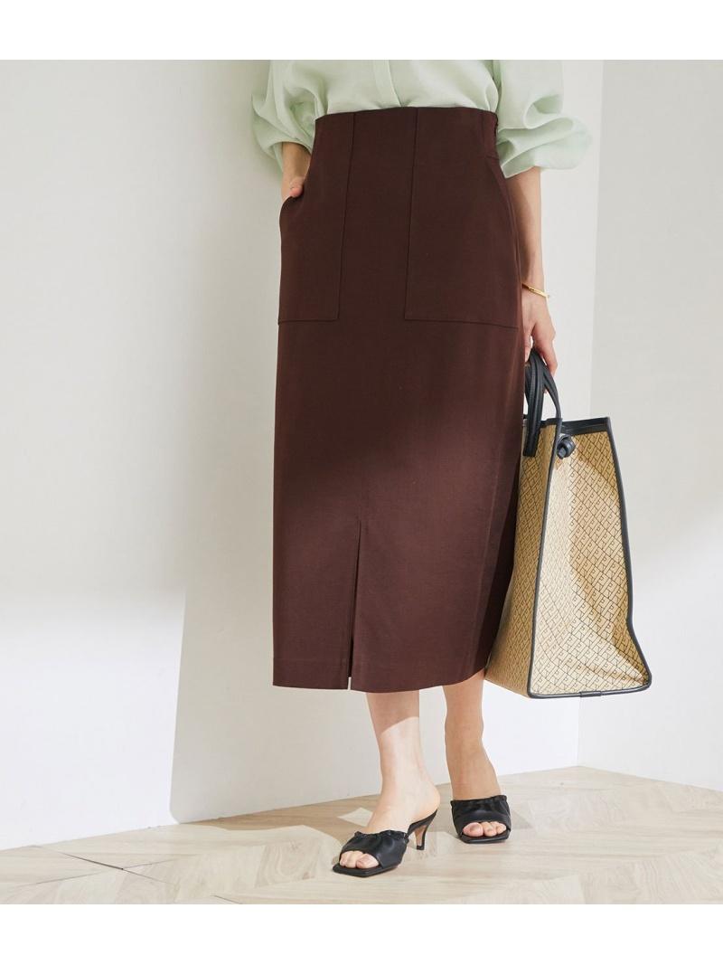 ついに再販開始 ROPE' レディース スカート ロペ 21SS ポケット付きストレッチタイトスカート スカートその他 ブラウン Fashion 送料無料 ブルー オレンジ パープル ストア Rakuten グリーン