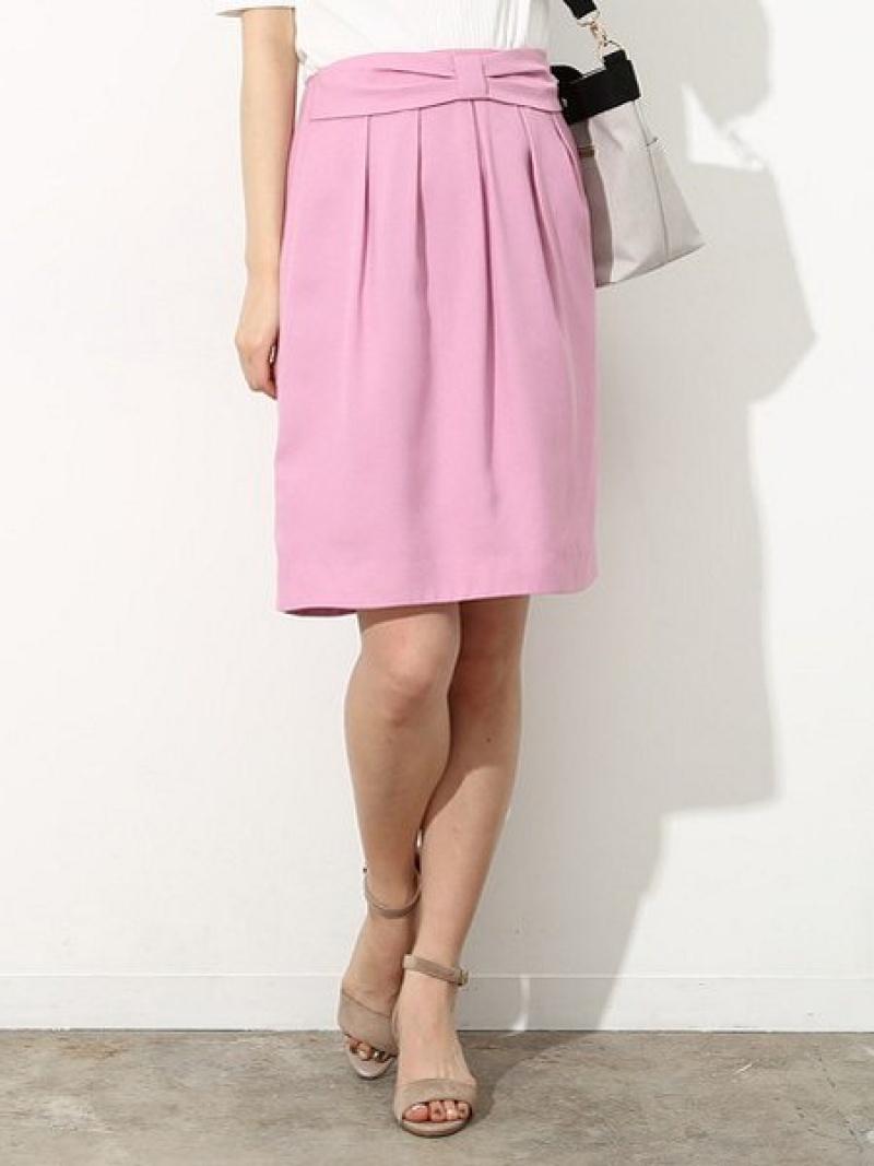 定価の67%OFF ROPE' PICNIC レディース スカート ロペピクニック Rakuten 商舗 Fashion 2WAY ギャザースカート ベージュ プリーツスカート ギャザーリボンスカート ネイビー ブルー ピンク