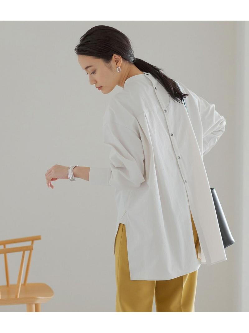 jun_beauty_0926 レディース シャツ ブラウス アダムエロペ Rakuten 即納 Fashion バックオープンバンドカラーシャツ ADAM ET ブラウスその他 送料無料 ブラウン グリーン ROPE' ベージュ 先行予約 ホワイト 新作販売 パープル