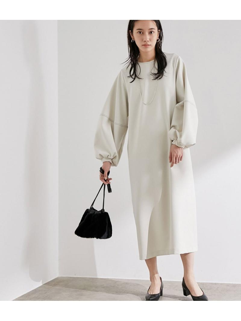 ADAM ET ROPE' レディース ワンピース アダムエロペ Rakuten Fashion ブラウン 40%OFF SALE ホワイト RBA_E 送料無料 大特価 ワンピースその他 お得クーポン発行中 バルーンスリーブステッチワンピース