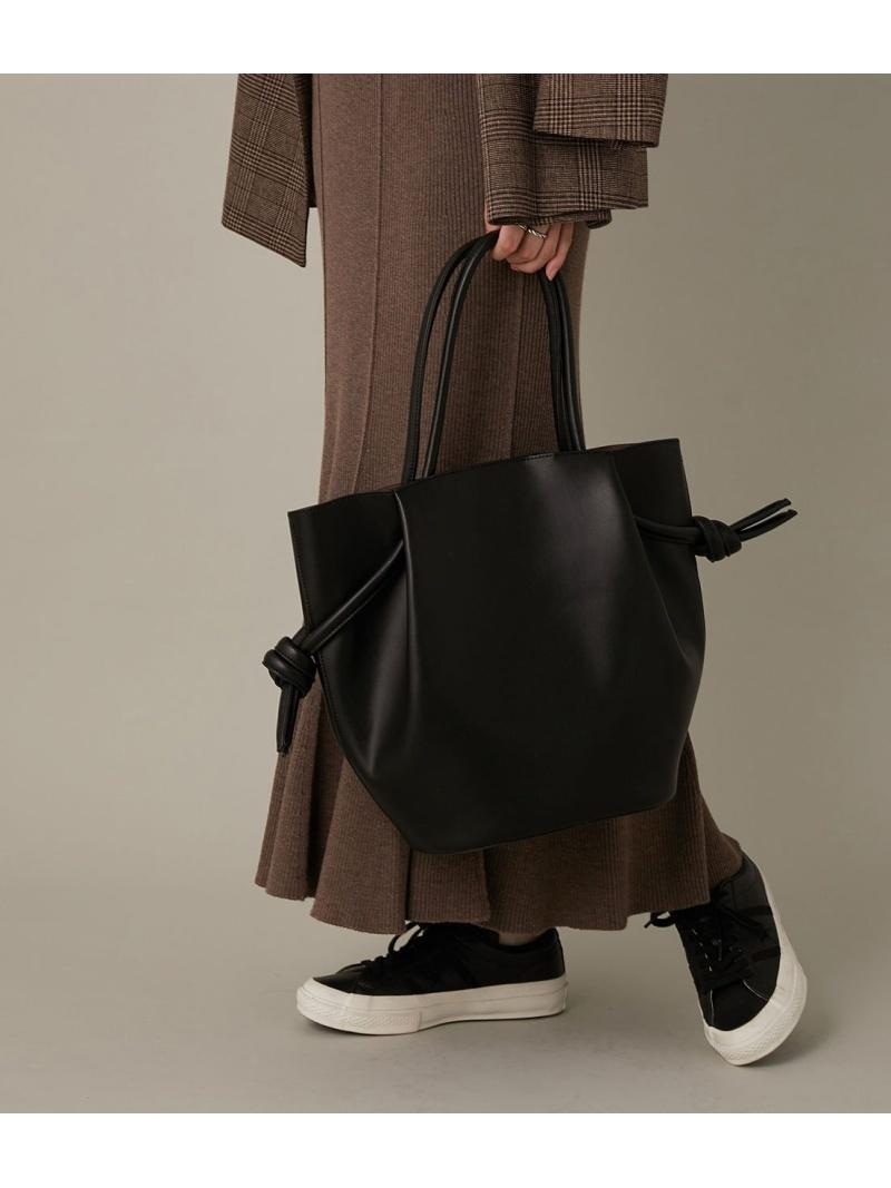 ADAM ET ROPE' 高品質新品 レディース バッグ アダムエロペ Rakuten ブラウン ブラック むすび巾着トート 送料無料 Fashion グレー 大幅にプライスダウン トートバッグ