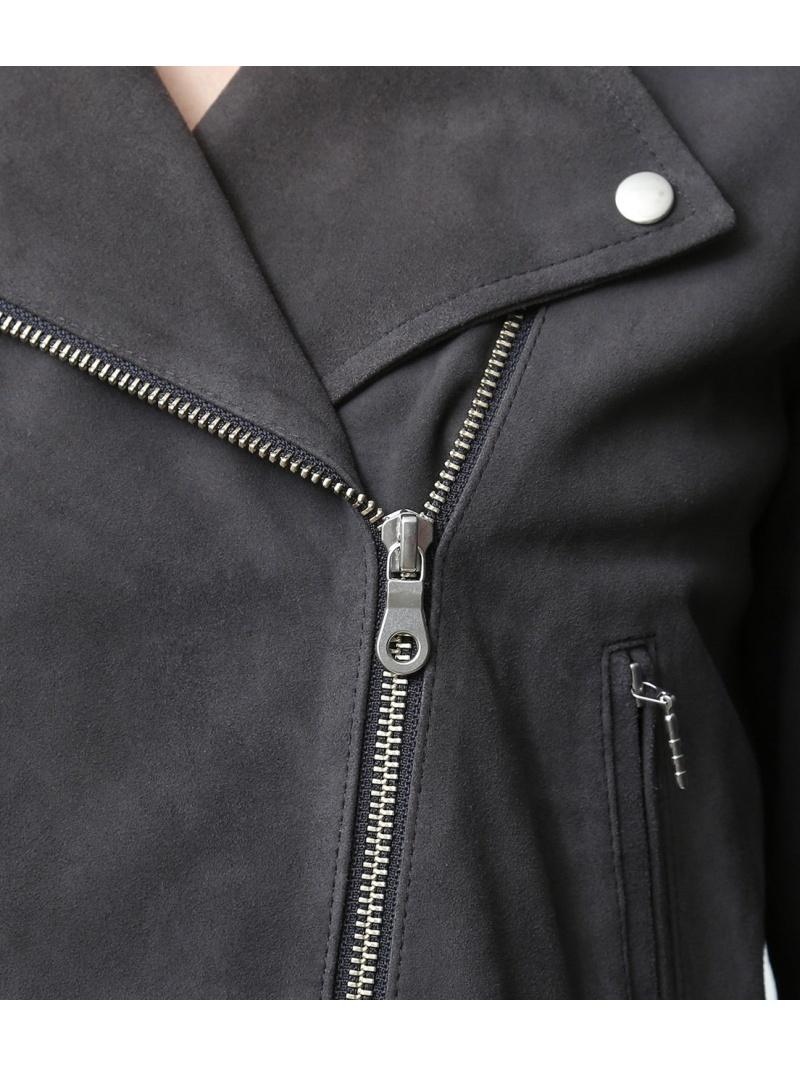 FashionSALE 10 OFF ゴートスエードライダース ROPE' mademoiselle ロペ コート ジャケット ライダースジャケット レザージャケット ベージュ グレー RBA E送料無料EH9WD2I