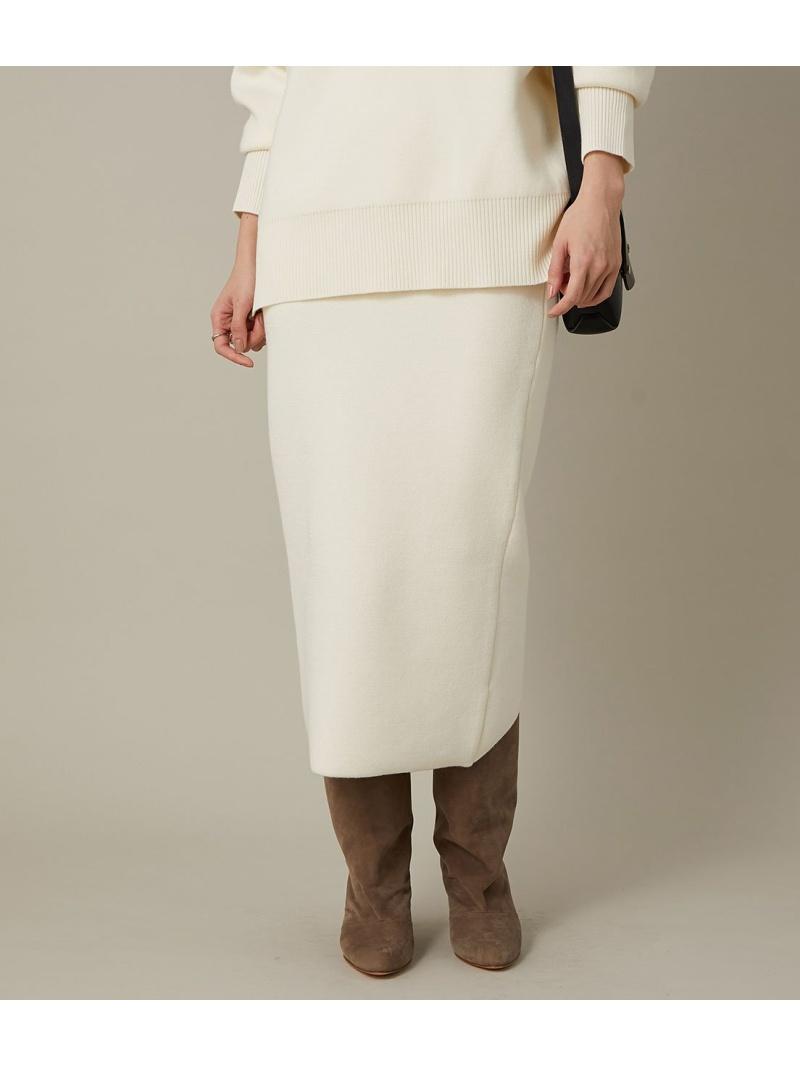 ADAM ET ROPE' レディース スカート アダムエロペ Rakuten セール価格 ホワイト スカートその他 変形ベンツニットスカート セットアップ対応 Fashion 営業 ベージュ 送料無料