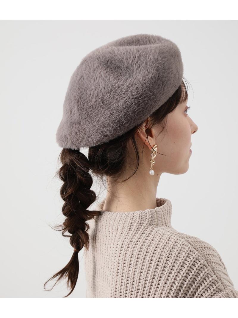 jun_all_0203 jun_goods_0203 ViS 正規激安 レディース 帽子 ヘア小物 ビス SALE 50%OFF Fashion ブラック ベレー帽 Rakuten シャギーベレー 70%OFFアウトレット RBA_E ホワイト グレー