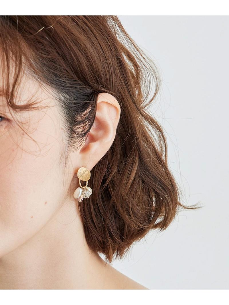 jun_0518_all ROPE' PICNIC レディース 高級な アクセサリー ロペピクニック PASSAGE SALE 16%OFF 日本全国 送料無料 Rakuten ピアス ゴールド RBA_E カーブメタルトップマルチビーズピアス Fashion