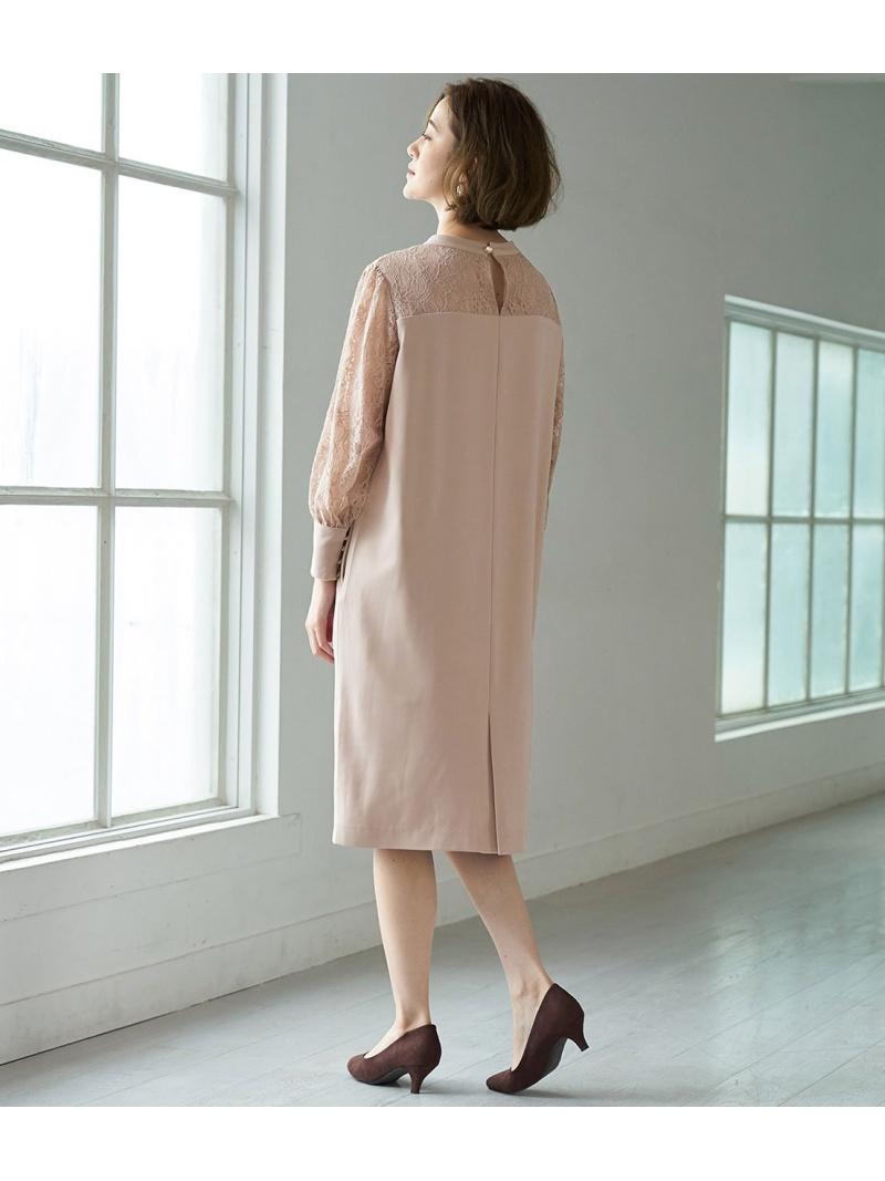 Rakuten Fashion一部店舗限定MonE'toile結婚式にも レースコンビサックドレス ROPE' PW9IH2EDY